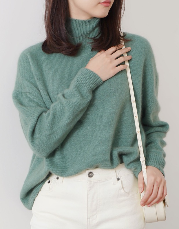 8268_Color Basic Turtleneck Knit