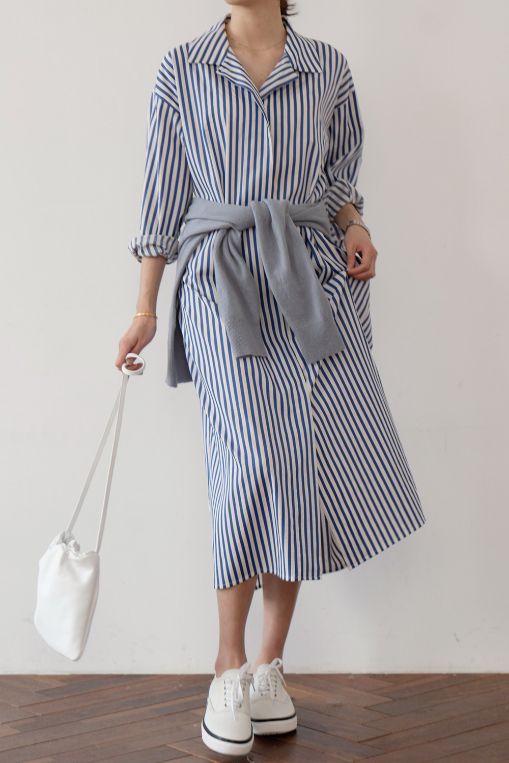 9677_BLUE STRIPE DRESS [ Pre_Order 10% DC ]리오더중