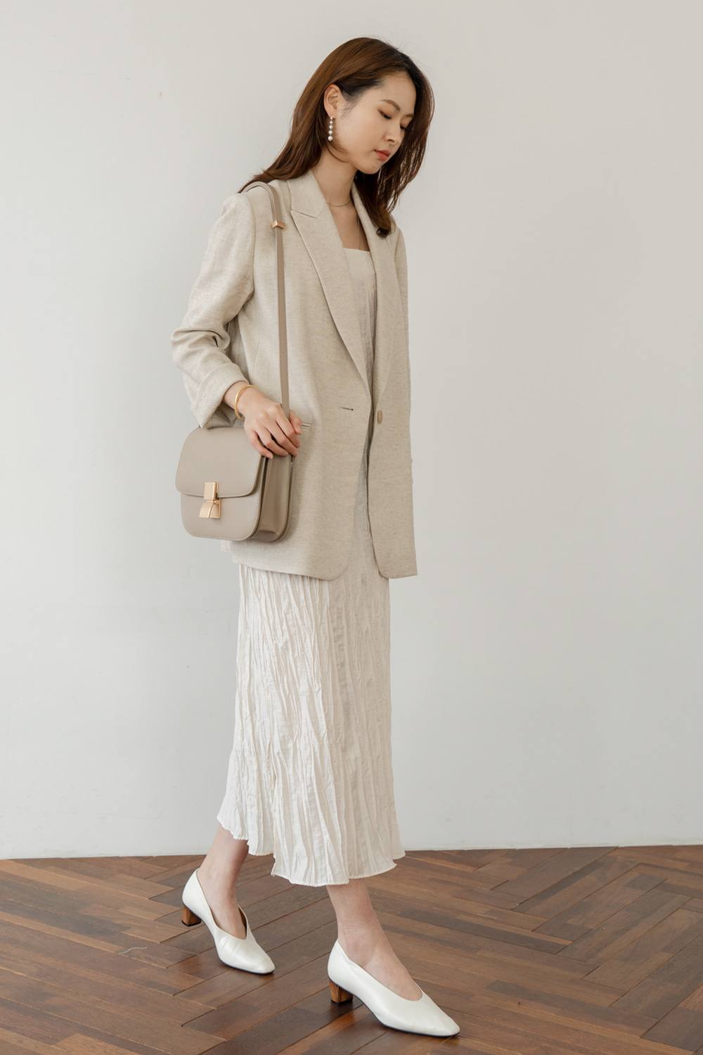 1110_Simple Linen Jacket  [ Pre_Order 10% DC ]