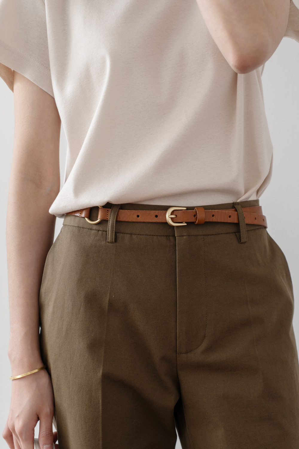 1543_Slim Leather Belt