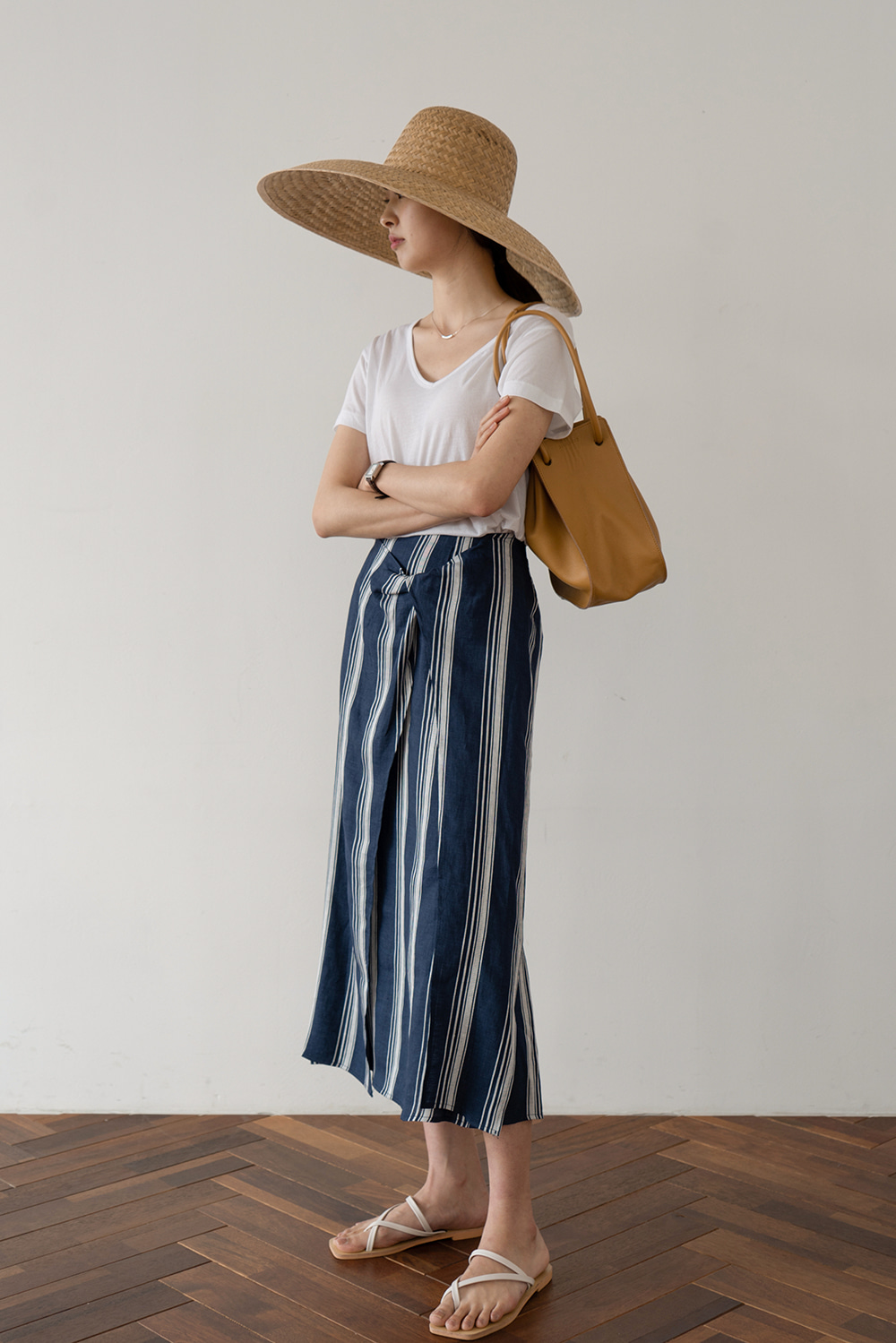 1908_Daisy Stripe Skirt