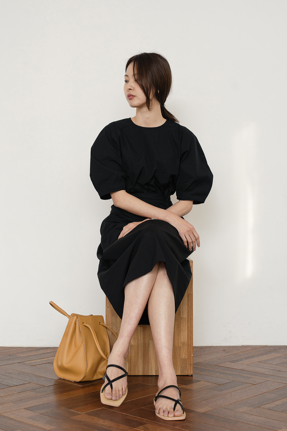 1904_Puff Wrap Dress [ Pre_Order 10% DC ]