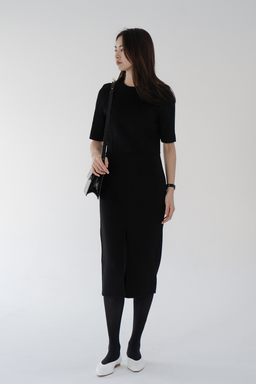 4030_Wool Front Slit Dress [ New Season / 40% DC ]  소진시까지