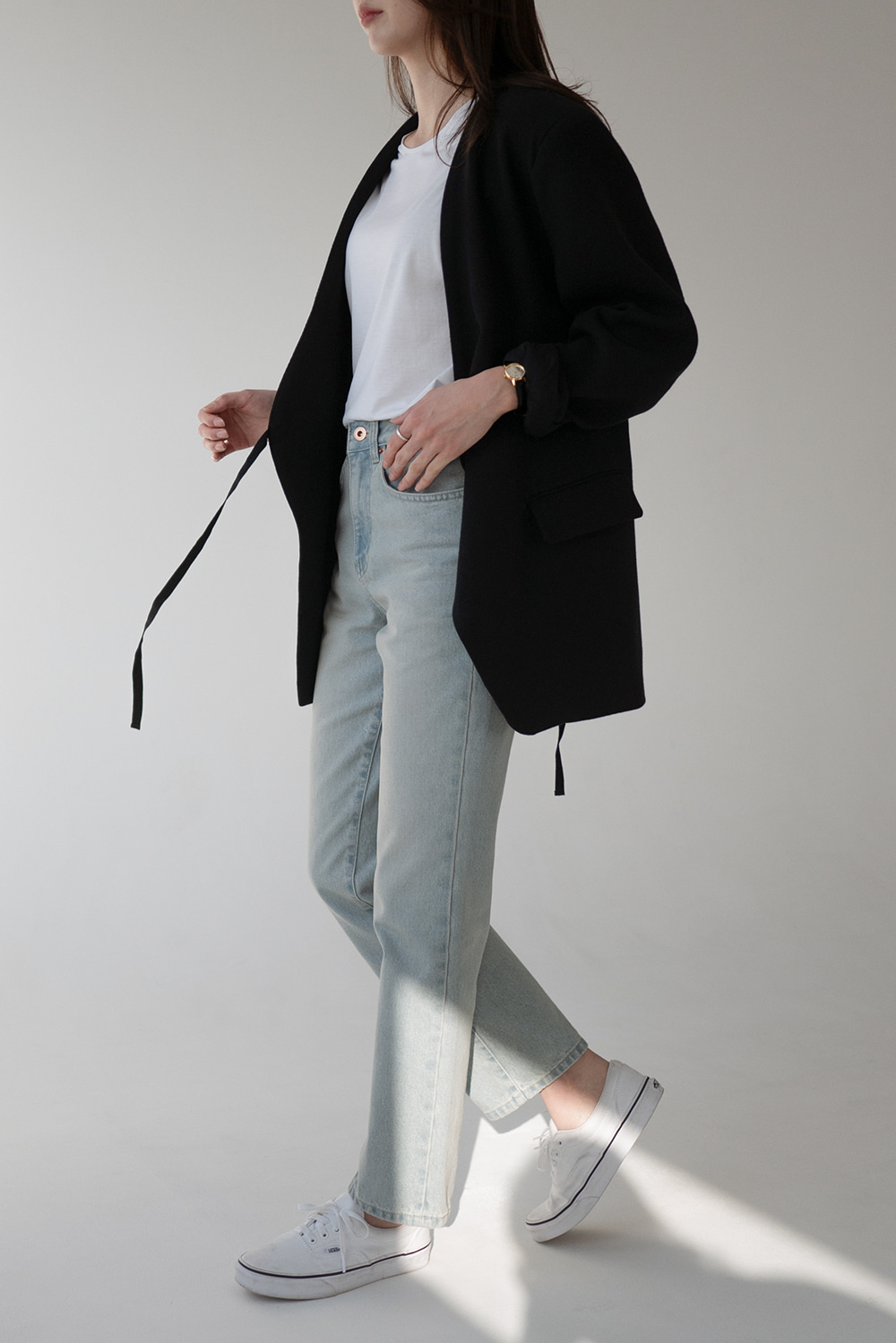 4732_no collar string Jacket
