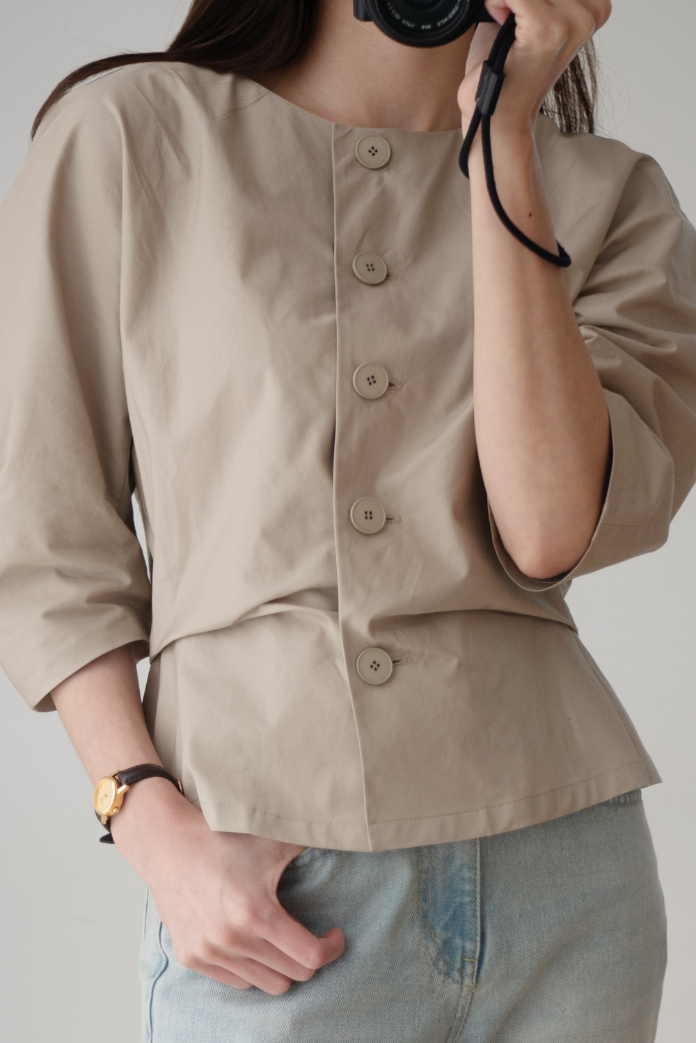 6368_Button Round Shirt
