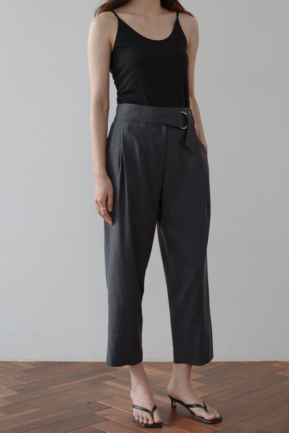 6697_Belt Band Trousers