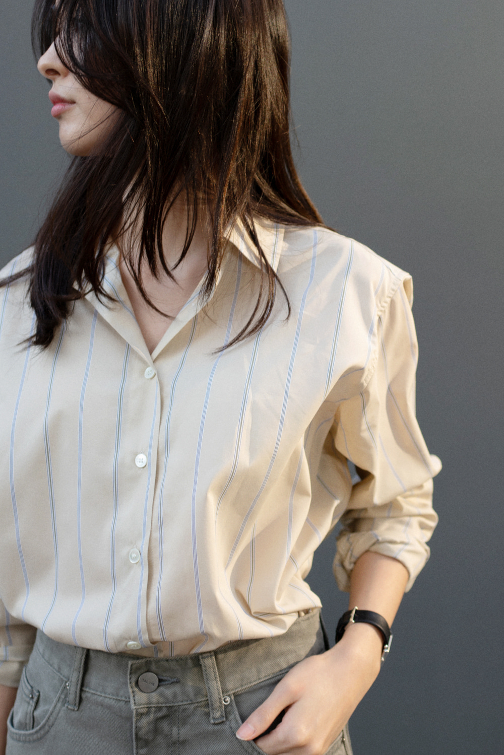 7550_Clean stripe shirt