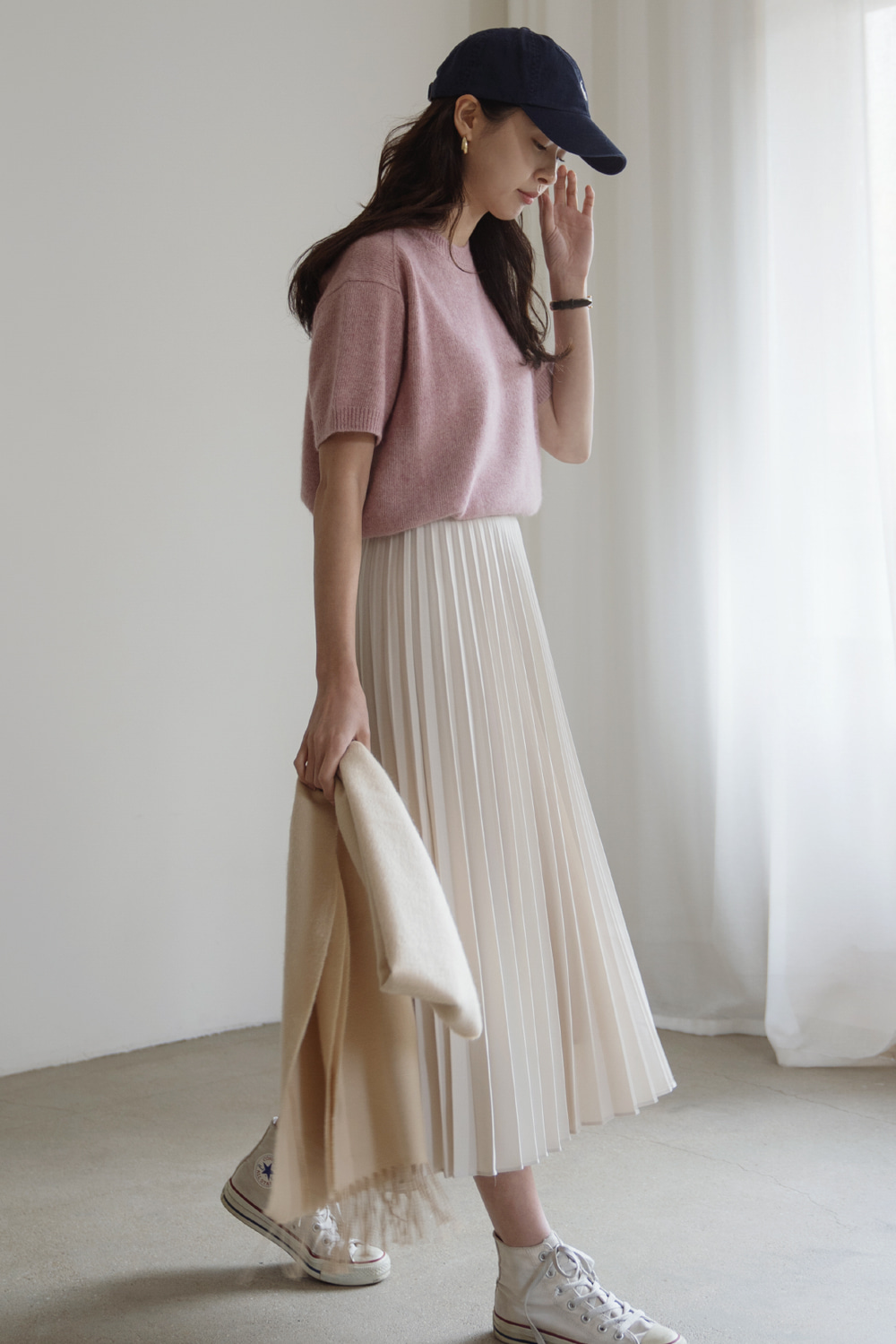 8798_Wool pleated skirt