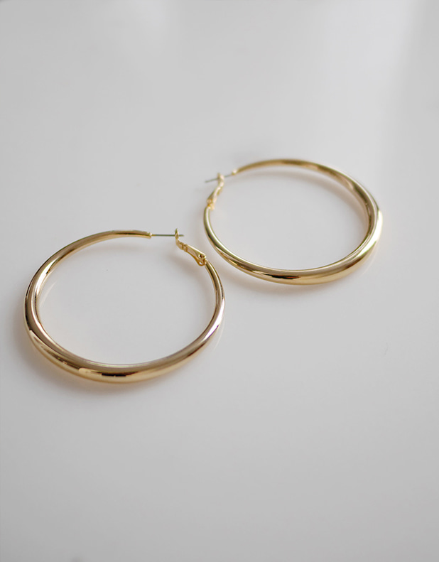 Tilda Hoop Earrings_titanium