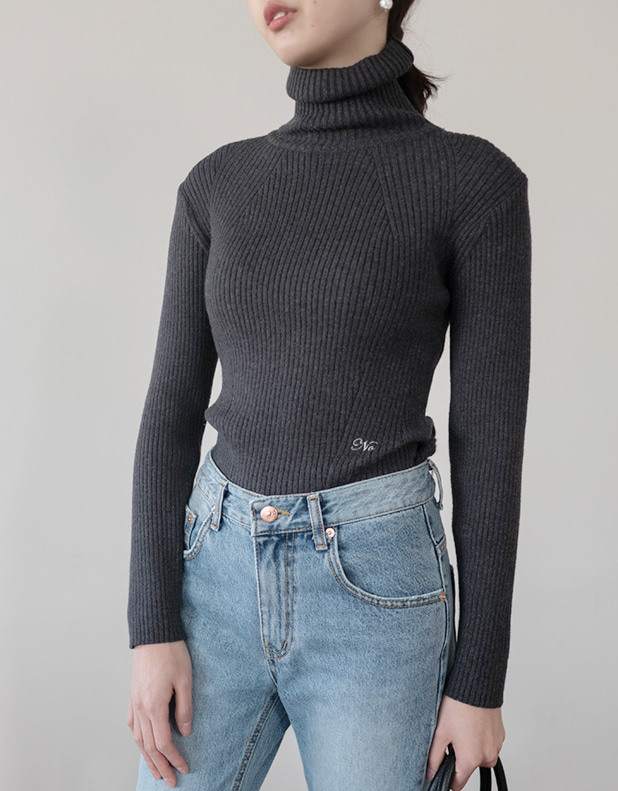 embroidery turtleneck
