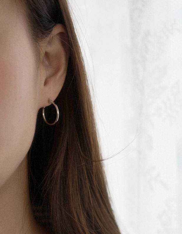 Silver HOOP Earrings_MINI