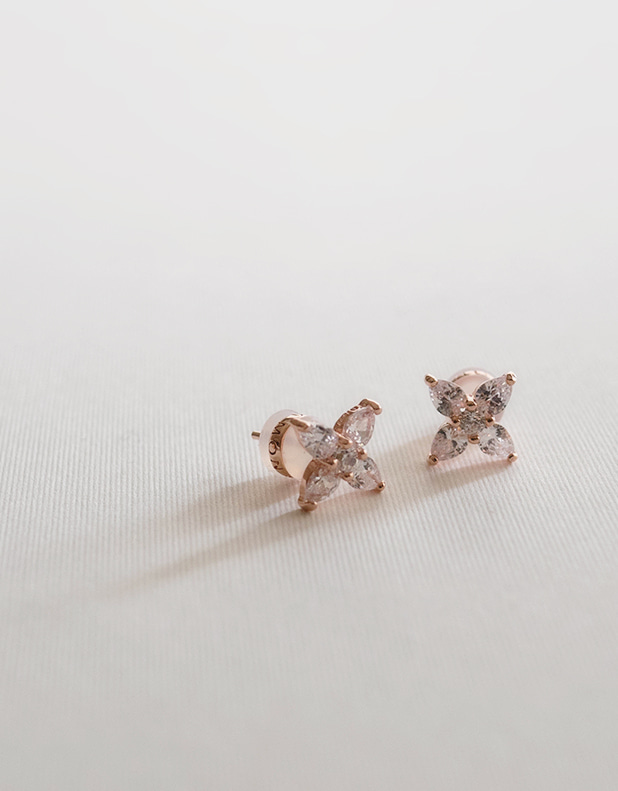 Tiny flower Earring_silver