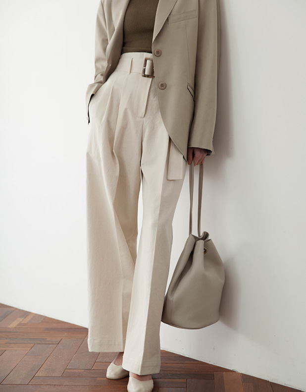 ONE belted Trousers
