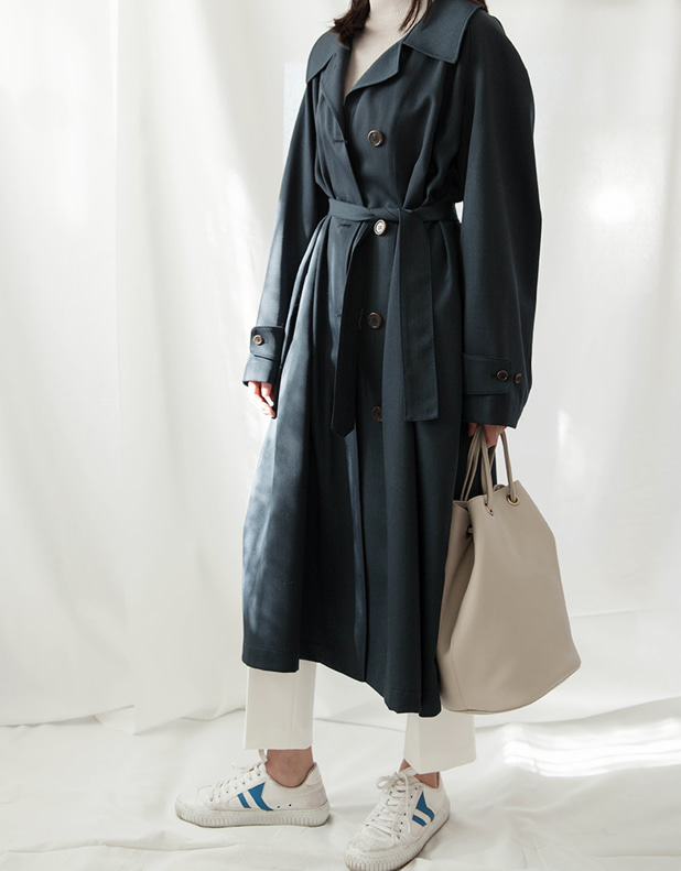 Stan Wide Trench_Navy
