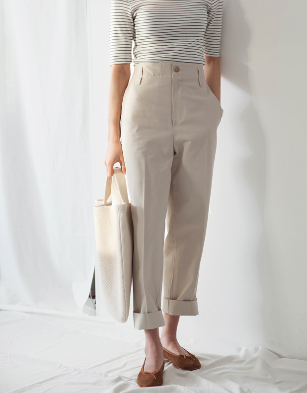 Cotton belted Pants(한정 20% DC)