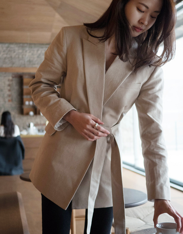 Isabel Linen Jacket