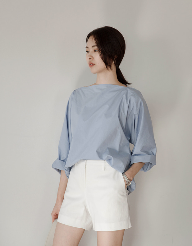 Boat Neck Shirt(한정 30% DC)