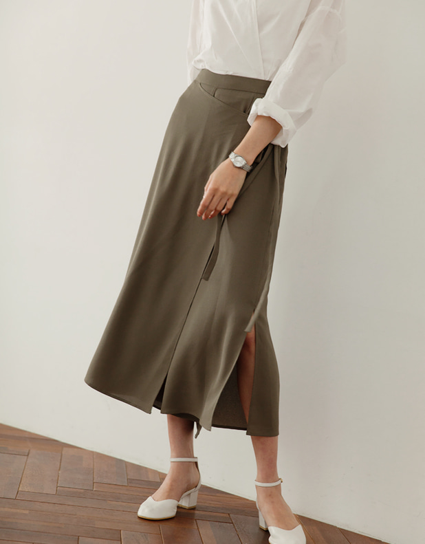 Wrap culottes pants