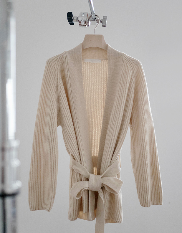 Relaxed style Wool_Blend Cardigan