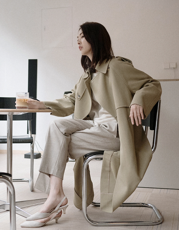 Lauren Wool Trench Coat