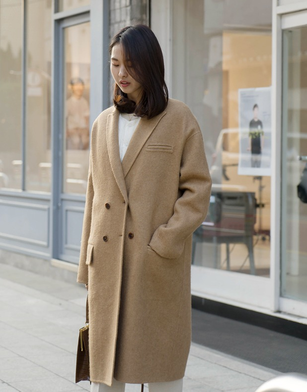8172_Camel Double Breasted Coat