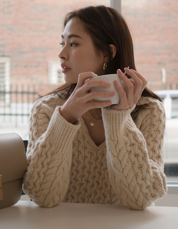 8664_Cable Knit LIGHT_BEIGE