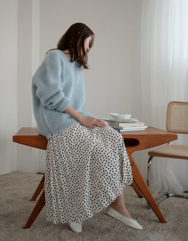 8965_DOT pleated skirt
