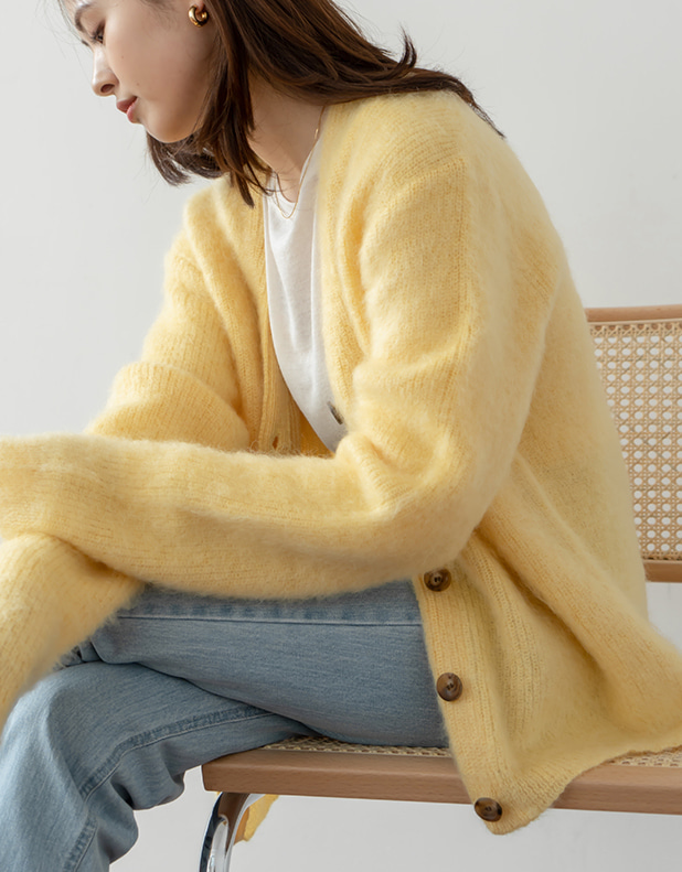 9048_Lemon Kid Mohair Cardigan