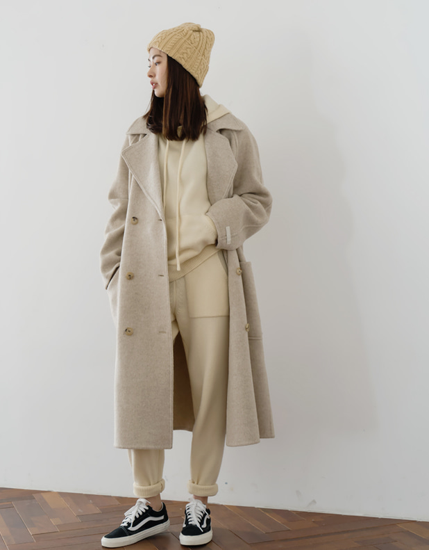 8808_Wool Oat-Beige Hand Coat [ 프리오더 30% DC ]