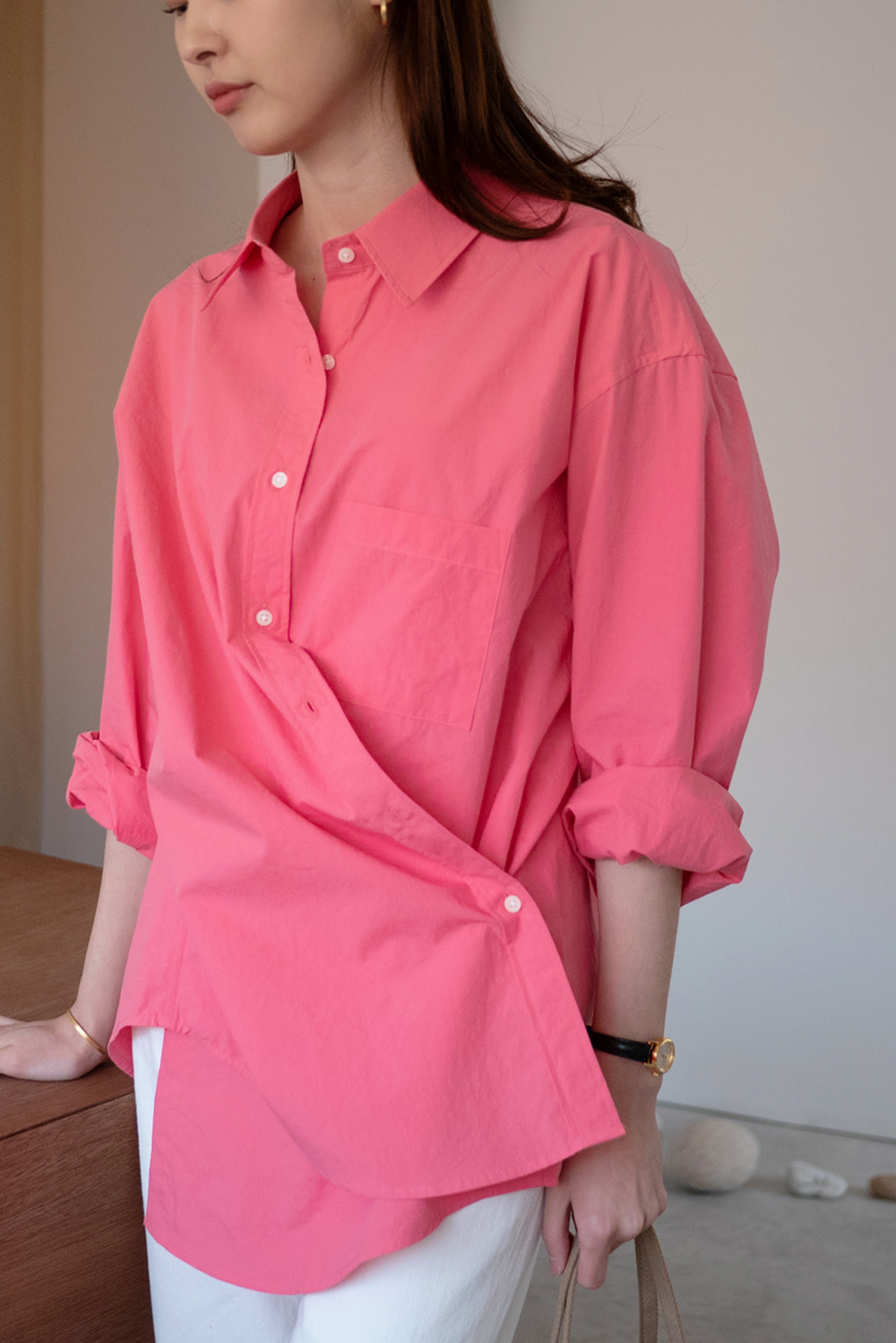 1025_SAL Boxy Wrap Shirt