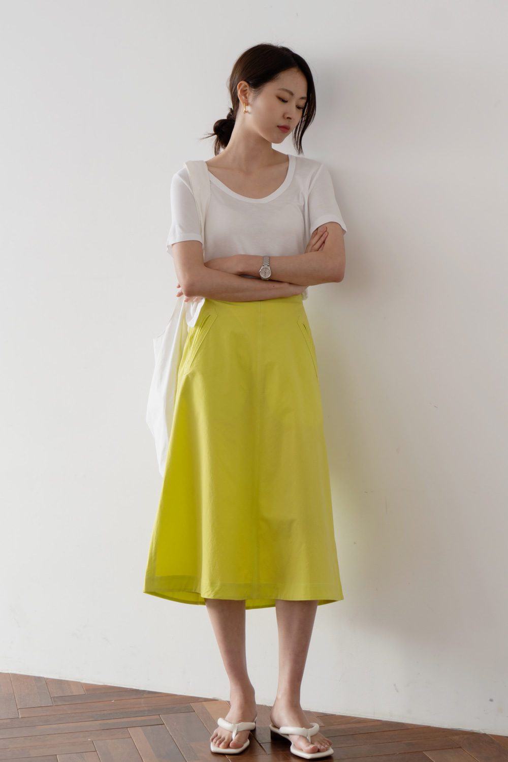 2007_Relaxed Cotton Skirt  [ Pre_Order 10% DC ][다음주 입고예정]