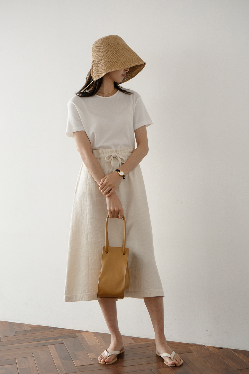2196_Natural String Skirt [ Pre_Order 10% DC ]