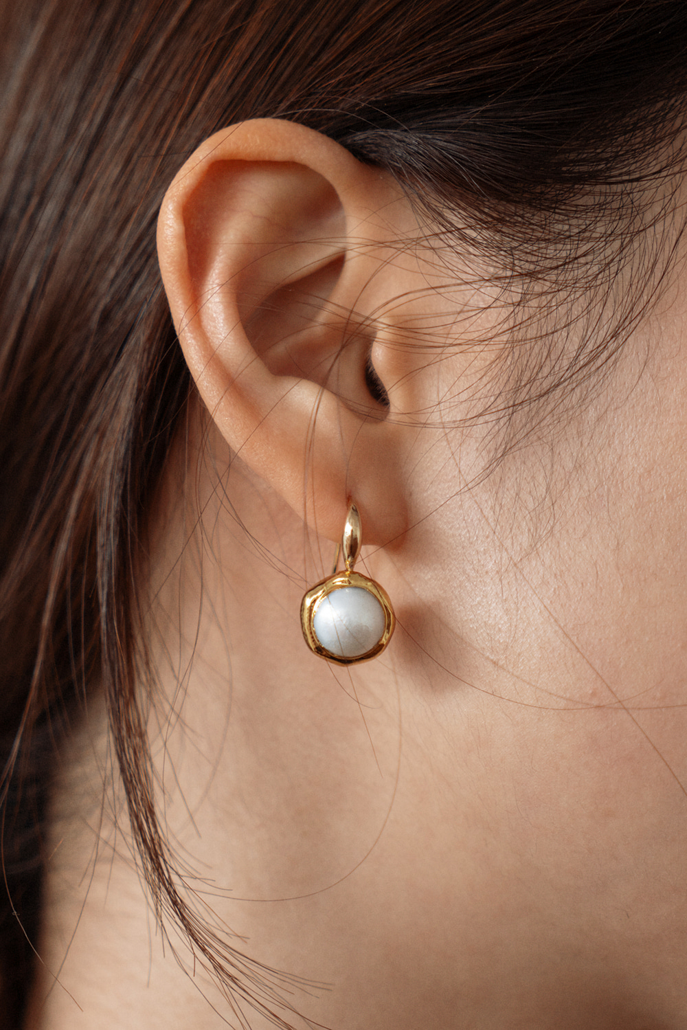 2127_Point pearl earring / 7일정도 지연