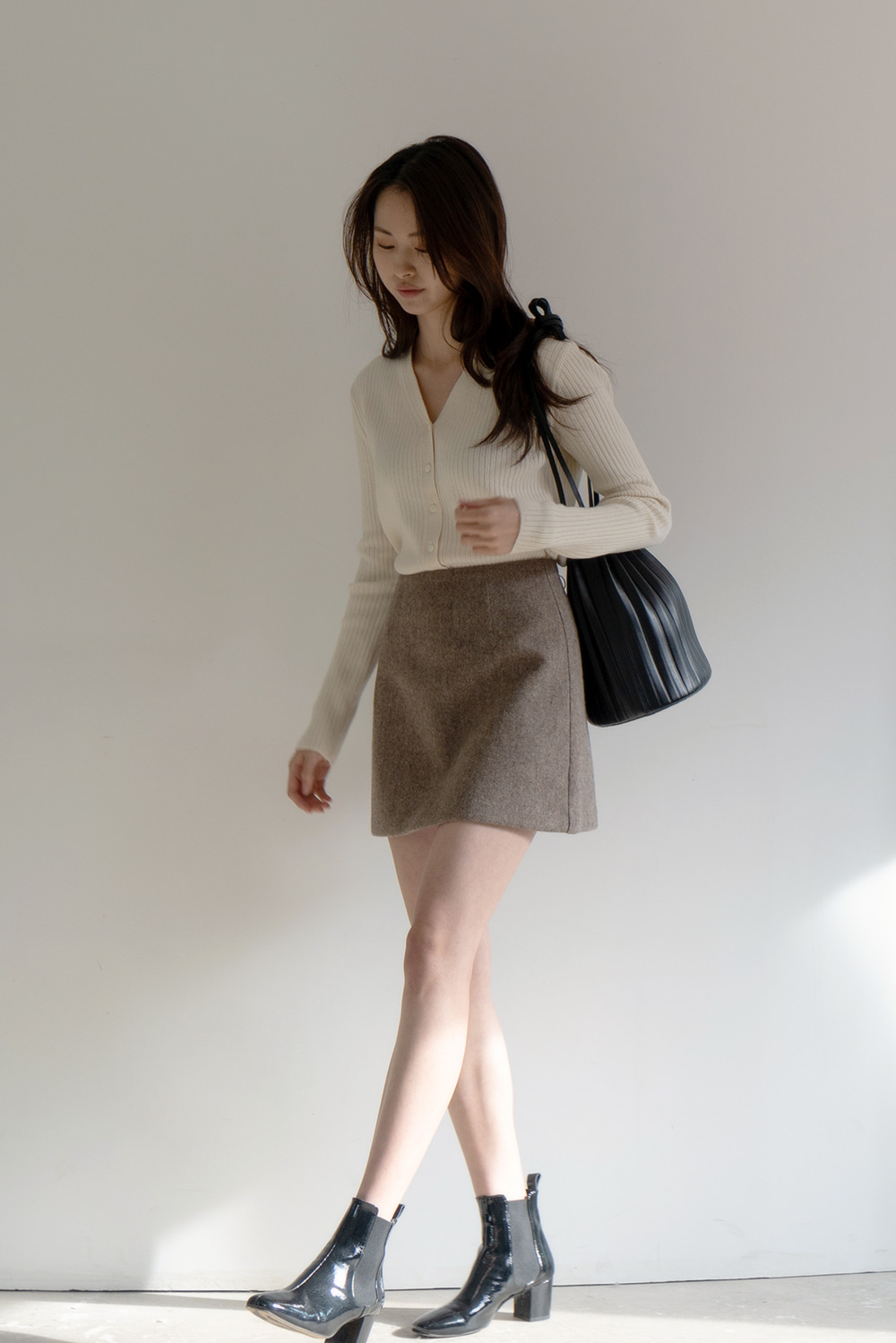 3023_Wool Mini Skirt