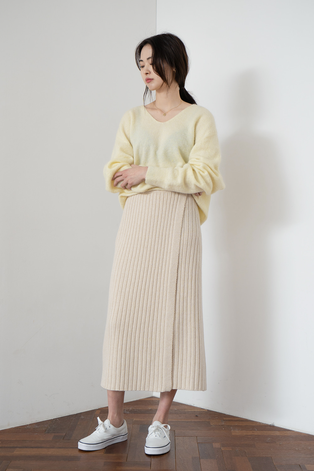 4072_Rib Wrap Skirt  [ New Season / 40% DC ]  소진시까지