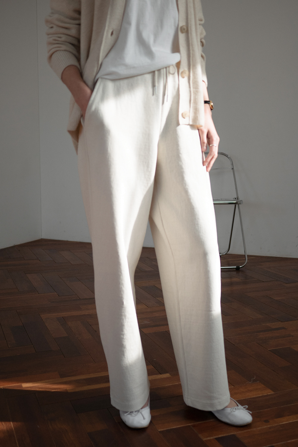 4692_Natural Band Pants