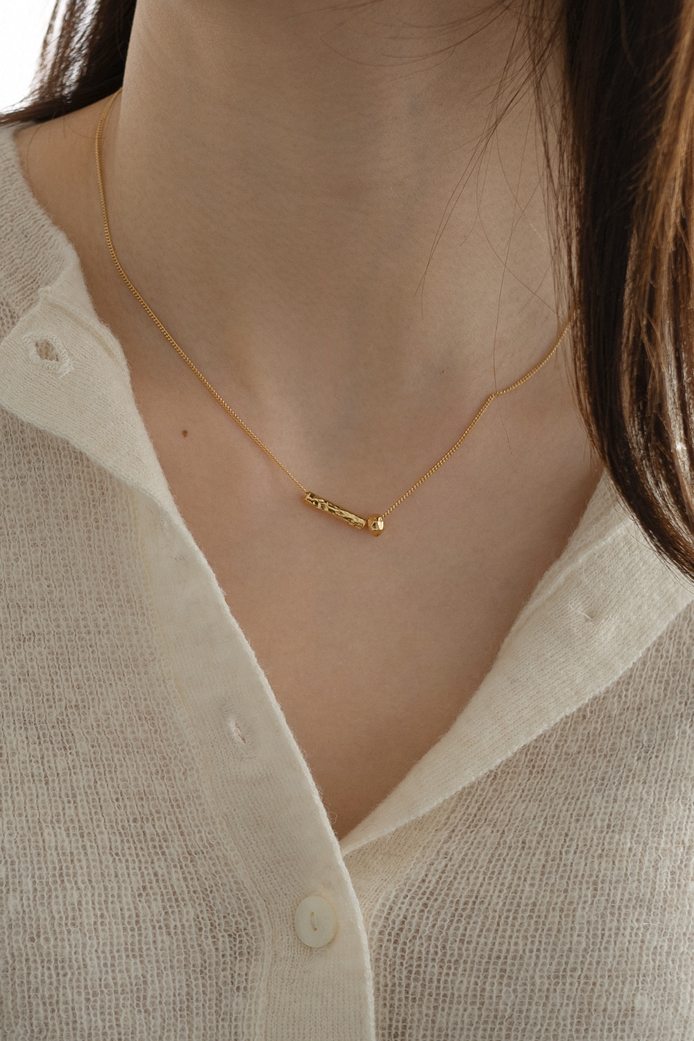 4977_Stick ball Necklace [ 입고지연 ]