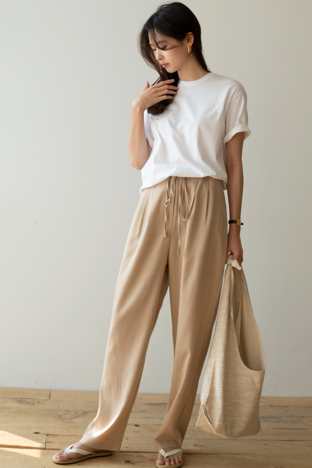 6533_Summer string pants