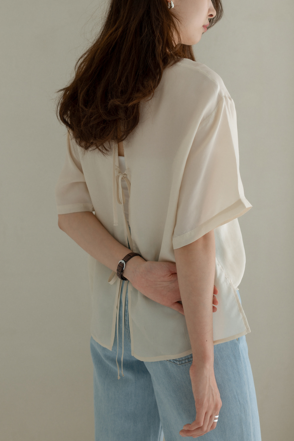 7086_Back Open Blouse  [ New Season / 10% DC ] 17일 PM 6 마감
