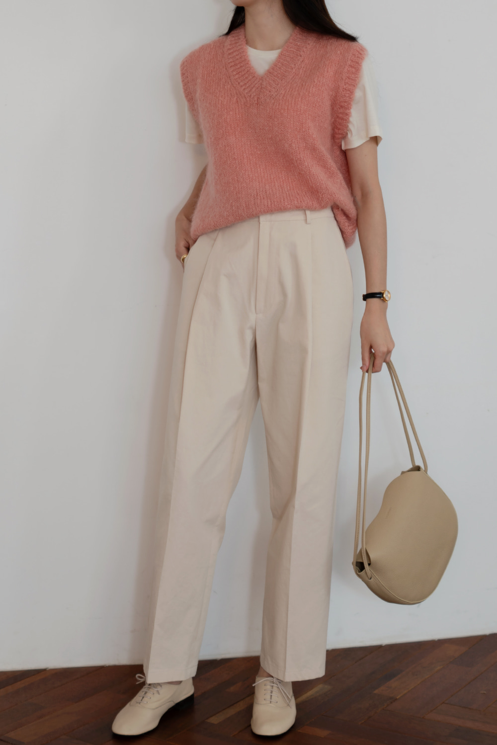 7418_Cotton One Tuck Pants