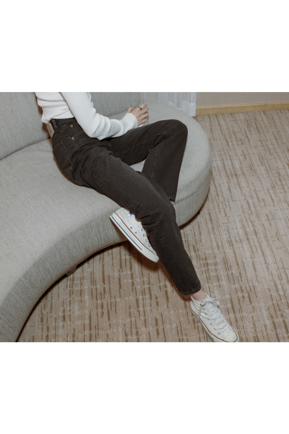 7268_SAL_black french straight-leg Jeans [ Pre- Order ] 1월말 발송예정