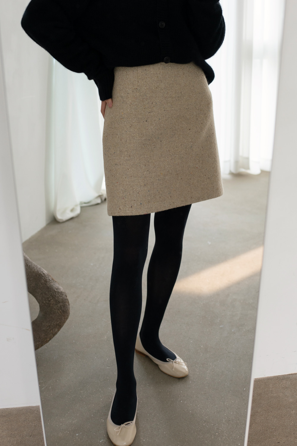 9341_Wool mini skirt