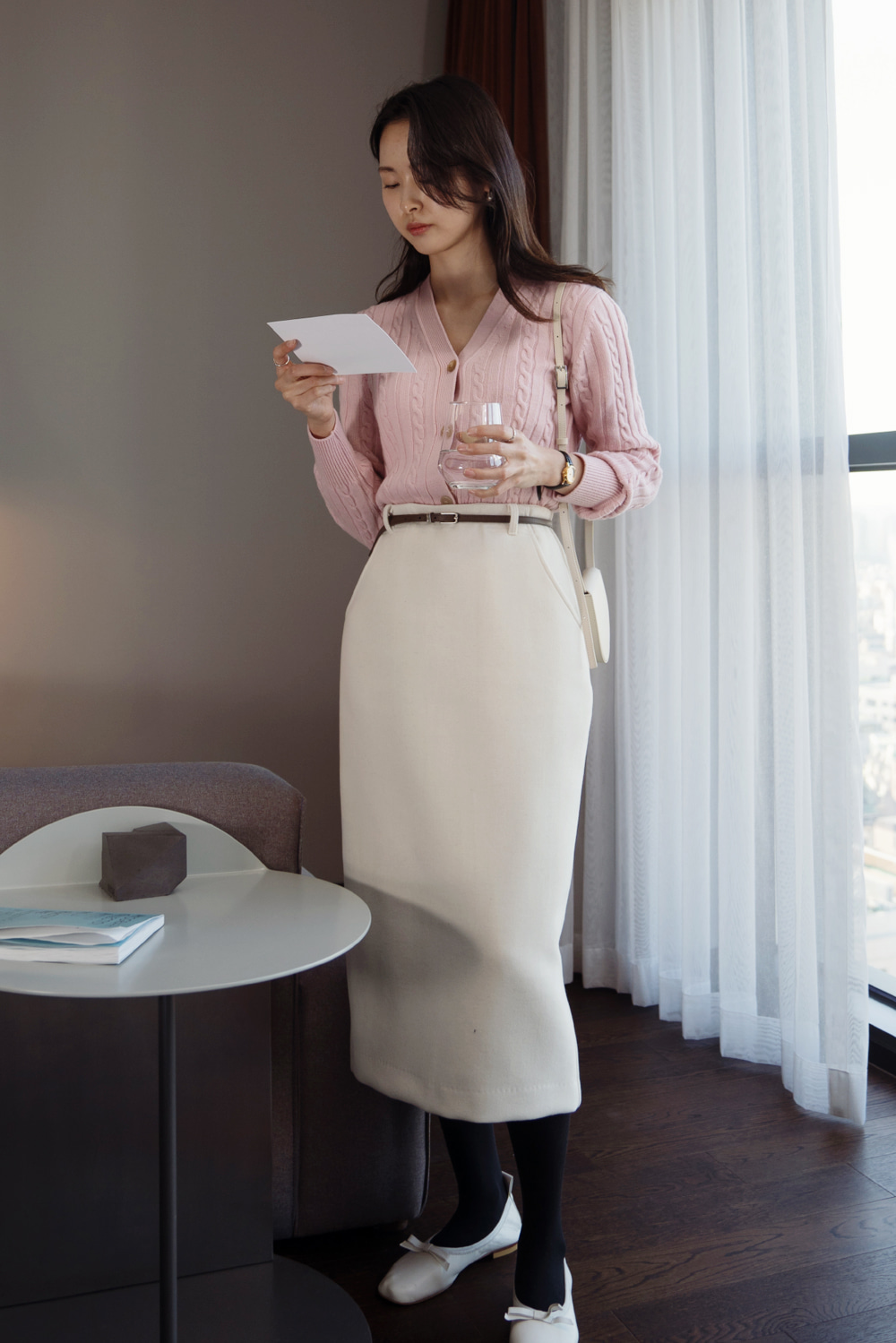9268_Wool belt skirt