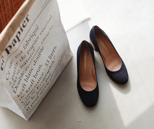 Maryam Suede Pump_NAVY