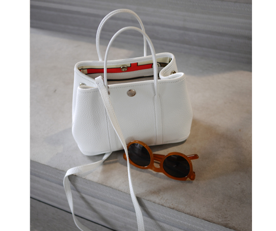 Garden party Bag_white Gray