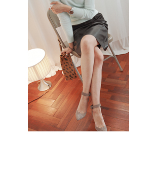 vintage suede skirt_(BLACK)30%