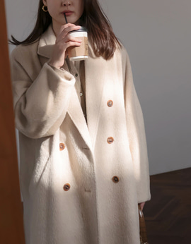 8814_Alpaca  Wool Double Coat   [ 프리오더 20% DC ]