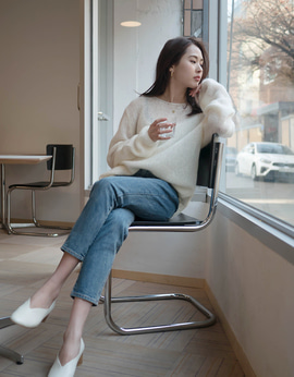 8801_Kid Mohair Neck Knit [ Early Bird 10% DC ]