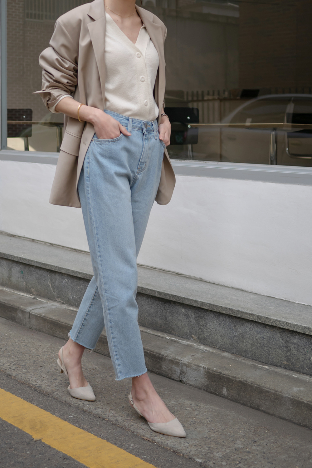 9704_Light Spring Denim Pants