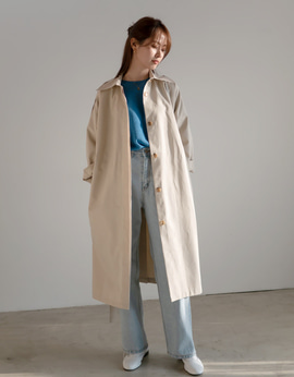 9617_Boxy Trench Coat LIGHT_BEIGE